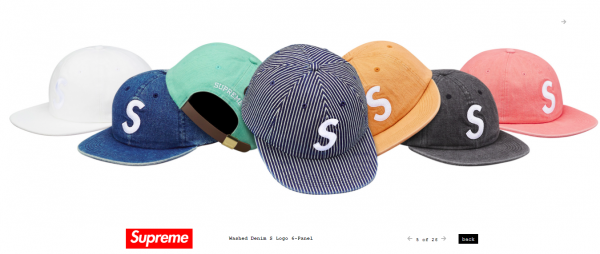 Supreme Washed Denim S Logo 6 Panel