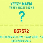 "【12月発売】Yeezy Boost 350 V2 ""Semi Frozen Yellow / Raw Steel / Red""【B37572】"