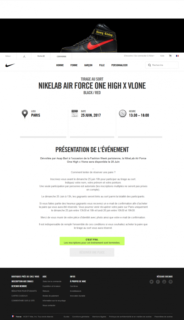 NikeLab Air Force One High x Vlone Nike