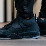 """【超限定】KAWS x Air Jordan 4 """"Black""""【カウズ x エアジョーダン4】"""