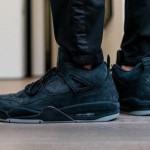 """【2018年発売】KAWS x Air Jordan 4 """"Black/Black""""【カウズ x エアジョーダン4】"""