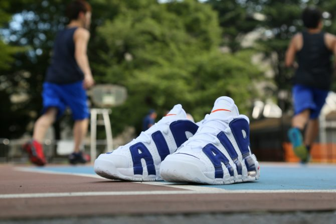 "new concept c9028 6ae80 Nike Air More Uptempo GS ""Knicks"" WHITEDEEP ROYAL BLUE-TEAM ORANGE  415082-103 20170801 900 ¥14,000"
