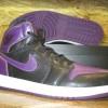 "Air Jordan 1 High ""Night Purple"" 【エアジョーダン1 ブラック x パープル 】"