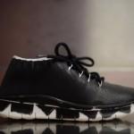 Maison Margiela Black Painted Knit Sneakers【メゾン マルジェラ ニュースニーカー】