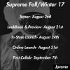 【8月26日立ち上げ!!?】Supreme 2017 FW Collection  【シュプリーム 秋冬コレクション】