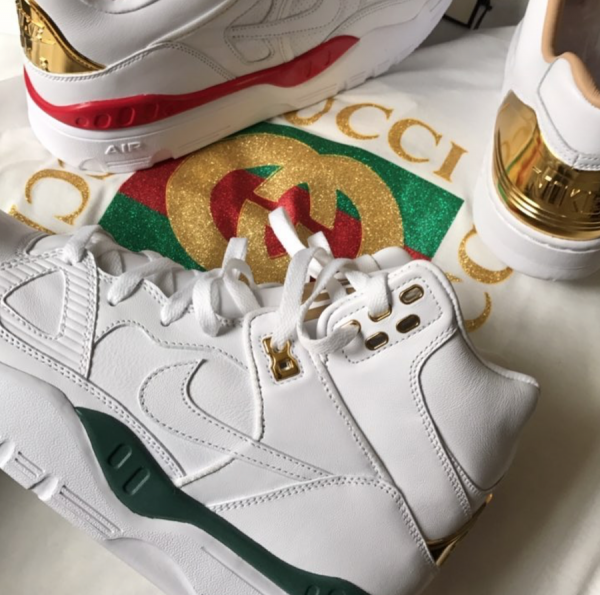 "new products 7bf7d 8bd59 Don C x Nike Air Force 1 ""GUCCI-THEMED"""