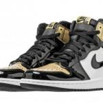 """【国内3月10日発売】Air Jordan 1 """"Gold Toe"""" 861428-007【ゴールドトゥ】"""