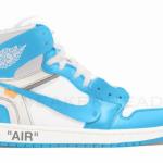 """【2018年発売】Off-White x Air Jordan 1 """"White/University Blue""""【オフホワイト x エアジョーダン1】"""