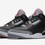 """【2月17日発売】Air Jordan 3 OG """"Black Cement""""【エアジョーダン3】"""