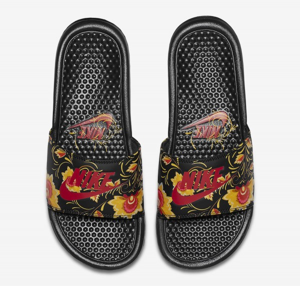 """feebd30904 Nike WMNS Benassi """"Russian Floral"""" Color: University Red/University Red-Black  Style Code: AJ1702-600. Price: $30"""