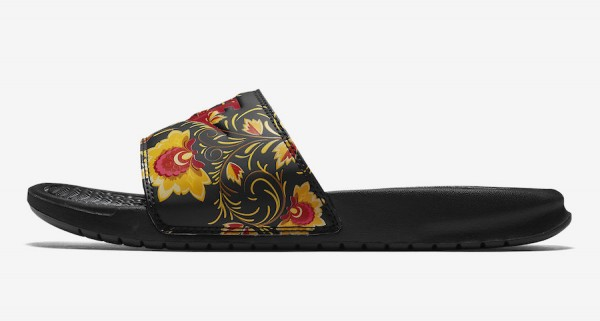 """98bef87ec1 Nike WMNS Benassi """"Russian Floral"""". Nike WMNS Benassi """"Russian Floral"""" Color:  University Red/University Red-Black Style Code: ..."""