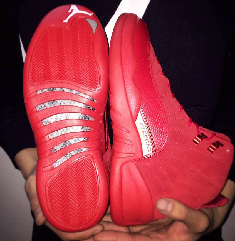 """5882d0e9d6a Air Jordan 12 """"Red Suede"""" Release Date: Holiday 2018. Price: $190"""