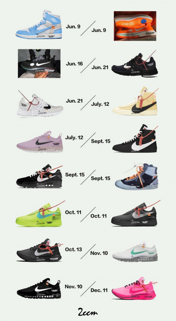 Off-White-x-Nike-2018-Release-Dates-1
