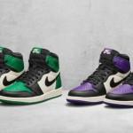 """【詳細明記】本日リリース!Air Jordan 1 """"Pine Green""""  """"Court Purple""""【555088-302, 555088-501】"""