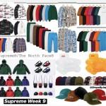【10月20日発売】2018FW Supreme Week9 発売アイテム一覧がこちらになります。
