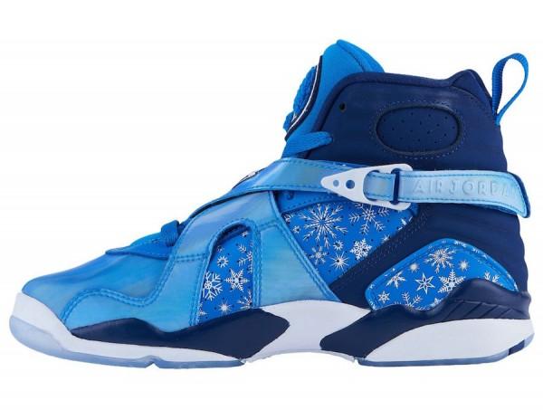 """super popular a4b89 edbca Air Jordan 8 """"Snowflake"""". Air Jordan 8 GS Color  Cobalt Blaze Blue Void- White"""