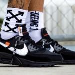 """【2018年発売】Off-White x Nike Air Max 90 """"Black""""【オフホワイト x ナイキ】"""
