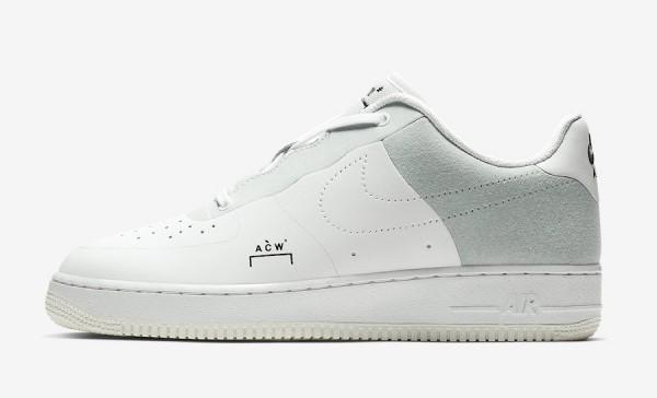"""【12月21日発売】A-Cold-Wall* x Nike Air Force 1 Low """"White""""【公式画像】"""