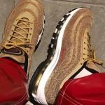 """【お披露目】Nike Air Max 97 Swarovski """"Metallic Gold"""""""