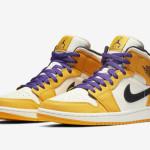"""【近日発売】Air Jordan 1 Mid """"Lakers""""【エアジョーダン1・ミッド】"""
