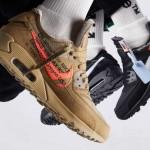 """【2月7日発売】Off-White x Nike Air Max 90 """"Black & Desert Ore""""【オフホワイト エアマックス90】"""