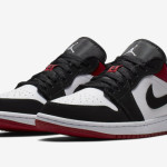 "【つま黒】Air Jordan 1 Low ""Black Toe""【553558-116】"