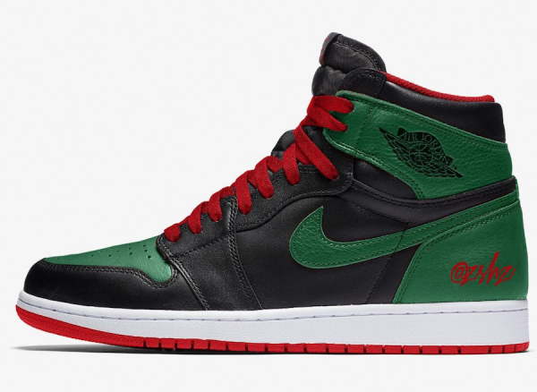 100% authentic b7327 21020 Air Jordan 1 Retro High OG Pine Green-Gym Red