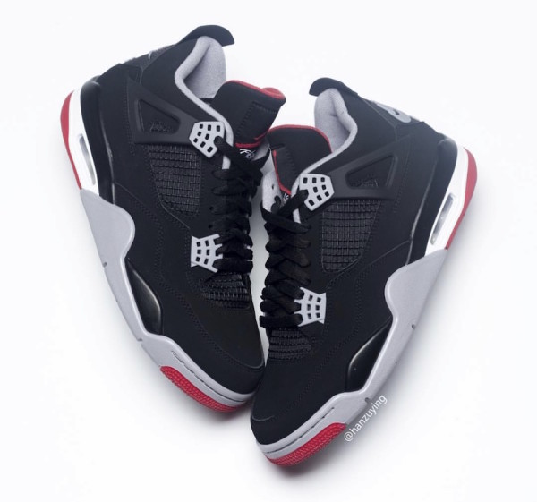 """buy popular 6b50b 20cc8 Air Jordan 4 """"Bred"""" Color  Black Cement Grey-Summit White-Fire Red Style  Code  308497-060. Release Date  May 11, 2019. Price   200"""
