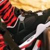 """【着用画像】Air Jordan 4 """"Bred"""" 2019【エアジョーダン4 黒赤 2019】"""