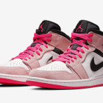 "【キュート】Air Jordan 1 Mid SE ""Crimson Tint"" 852542-801"