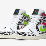 【オフィシャル】Air Jordan 1 Mid ALL-OVER PRINT 【554724-119】