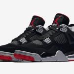 "【5月4日】Air Jordan 4 ""Bred"" 308497-060"