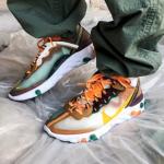 """【4月27日発売】Nike React Element 87 """"Orange & Yellow""""【ナイキ リアクト エレメント 87】"""