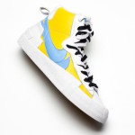 "【詳細画像】Sacai x Nike Blazer ""Yellow and Baby Blue""【サカイ x ナイキ】"