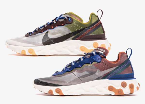finest selection 2c2a3 5ff89 5月2日 Nike React Element 87 2カラーリリース AQ1090-200, AQ1090 ...
