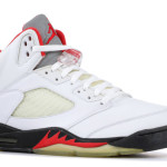 "【噂】Air Jordan 5 ""Fire Red"" Silver 3M Reflective tongues"
