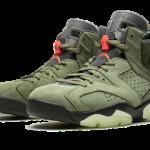 """【9月14日発売】Travis Scott x Air Jordan 6 """"Medium Olive""""【トラヴィス x ジョーダン】"""
