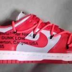 """【リーク】Off-White x Nike Dunk Low """"University Red""""【オフホワイト x ナイキ ダンク ロー】"""