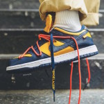 "【詳細画像】Off-White x Nike Dunk Low ""University Gold""【オフホワイト x ナイキ】"