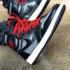 "【着用画像】Air Jordan 1 ""Black Satin"" 555088-060"