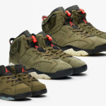 "【10月12日】Travis Scott x Air Jordan 6 ""Medium Olive"""