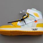 """【2020年発売】Off-White x Air Jordan 1 """"Canary Yellow""""【オフホワイト x エアジョーダン1】"""