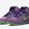 """【公式写真】Nike SB Dunk High """"Purple Skunk""""【ナイキ SB ダンク ハイ パープル スカンク】"""