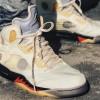 """【着用画像】Off-White x Air Jordan 5 """"Sail""""【オフホワイト x エアジョーダン5 セイル】"""