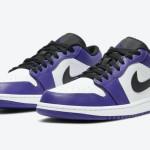 """【公式写真】Air Jordan 1 Low """"Court Purple""""【エアジョーダン1 ロー コートパープル】"""